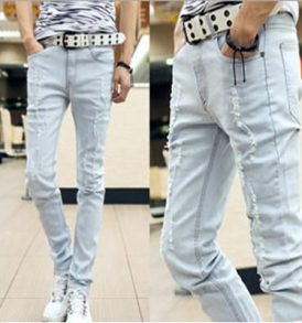 Men Light Blue Jeans MJ-SCI_002