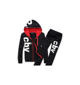 Men Black Joggers Set MJG-DTG_003