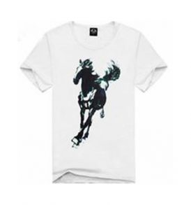 Men Horse White Graphic Tee MT-ZGA_011