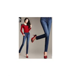 Dark Blue Women Skinny Jeans