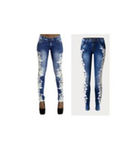Blue Torn Out Women Jeans