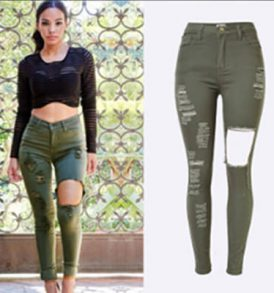 Women Jeans dark Green