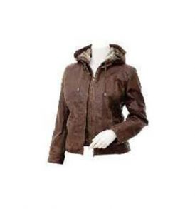 ladies Leather Jacket in Brown