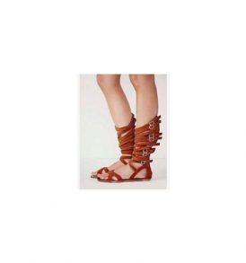 Women Cut Out Mid-shaft Gladiator Sandals