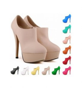 ladies platform high heels ankle boots faux suede shoes WSH-WW_817-3 MA